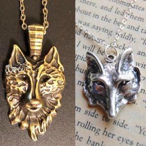 Jewelry - 2 necklaces Game throne stark house sigil jon snow